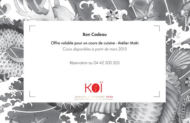Cours de cuisine restaurant koi for Aix en provence cours de cuisine