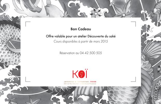 Dégustation de Saké chez Koi Aix en Provence