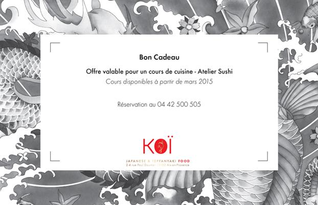 Cours de cuisine Sushi Aix en Provence