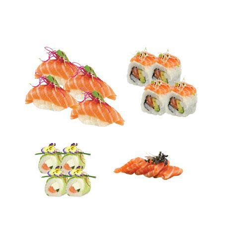 Plateau 10 springrolls sashimi sushis california